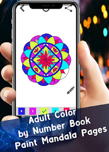 Adult Color By Number Book Paint Mandala Pages Google Play De