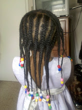 Photo: Back of Kaleya's head after she had her hair braided.