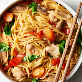 Instant Pot™ Chicken and Vegetable Lo Mein.