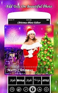 christmas photo editor merry christmas poster