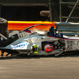 Kubica F1 Crash in Montreal by Wilson Silverthorne - Sports & Fitness Motorsports ( formula one, canada, grand prix, montreal, kubica, wrecked, f1, crash )