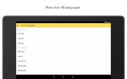 Yandex.Translate - screenshot thumbnail
