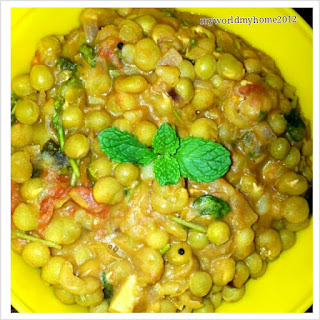 Green Peas Masala - My Version