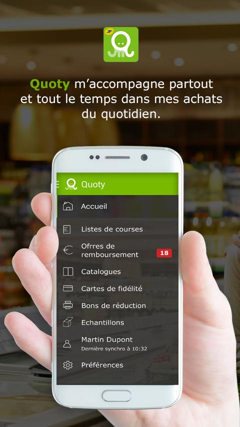 Quoty- screenshot