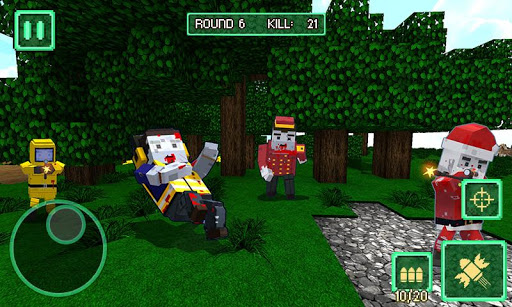 Pixel Battle City War - pixel block games  screenshots 1