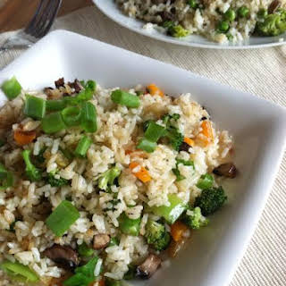 Veggie Fried Rice Vegan and Gluten Free.