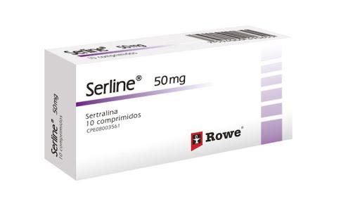 Sertralina Serline 50 Mg  10Comprimidos Rowe