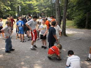"Photo: Milling around waiting for the much anticipated ""Muck Hike"""