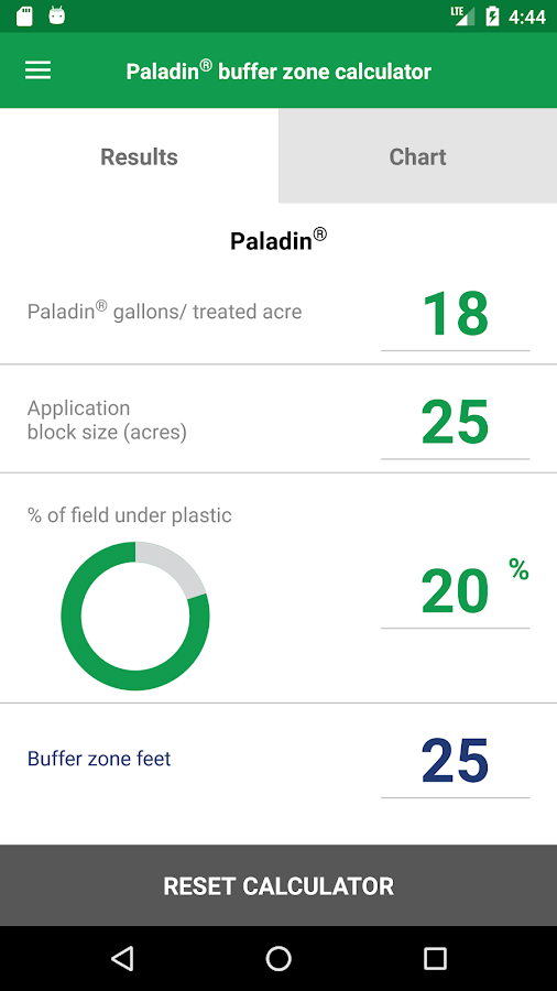 Paladin soil fumigant calculator android apps on google for Soil removal calculator
