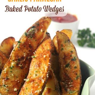 Garlic Parmesan Baked Potato Wedges