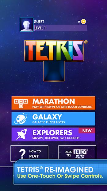 TETRIS Android App Screenshot