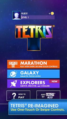TETRIS Android App Screenshot