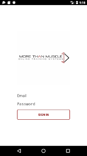 More Than Muscle Online Training System - náhled