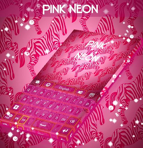 粉紅色霓虹燈斑馬鍵盤