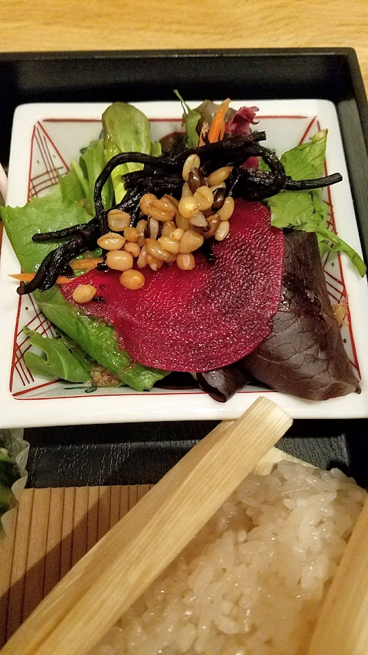 Chef Naoko's Shizuku - a restaurant with natural and organic Japanese cuisine, this is their vegan Shokado, an abbreviated kaiseki meal in a square lacquered box
