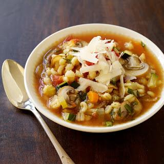 Italian-Inspired Vegetable Barley Soup Recipe