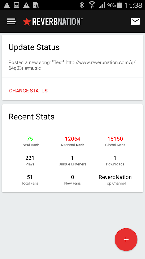 ReverbNation for Artists- screenshot