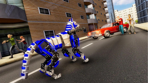 Robot Dog Simulator Subway Dog Police Dog Games apktram screenshots 1