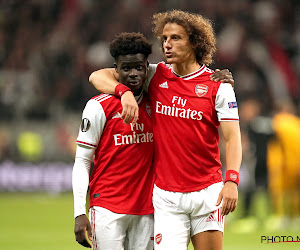 Bukayo Saka David Luiz Arsenal