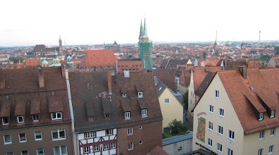Photo: The view from the Imperial Castle overlooking Nurnberg