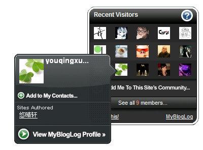 MyBlogLog Widgets