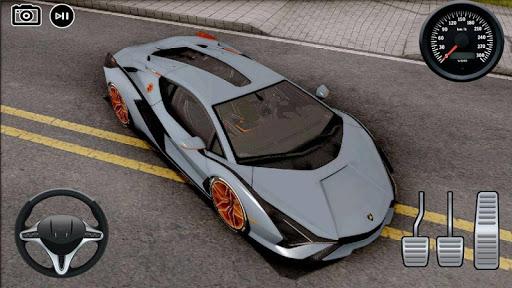 Driving Lamborghini Sian New Drift Simulator APK MOD screenshots 2