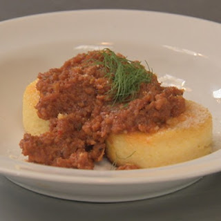 Polenta Cakes with Quick Sausage Sauce