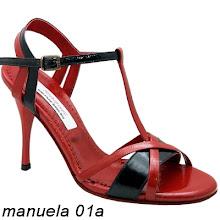 Photo: Cuir vernis rouge & noir - Talon acrylique fin 9 cm