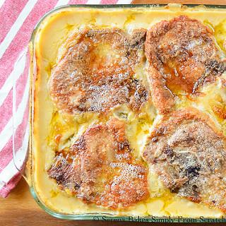 Cheesy Pork Chop and Potato Casserole Recipe