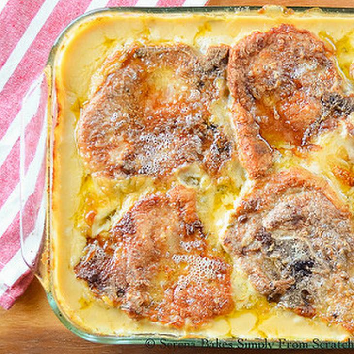 Cheesy Pork Chop and Potato Casserole