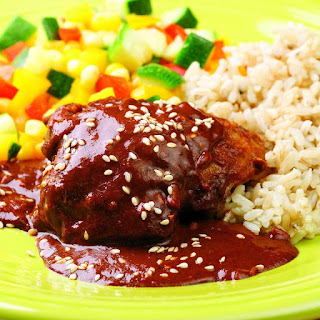 Chicken with Quick Mole Sauce.