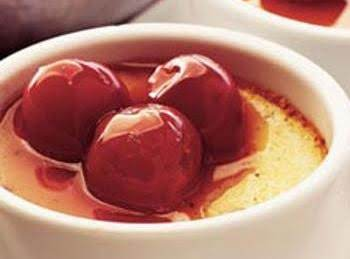 Diabetic Baked Cherry Custard
