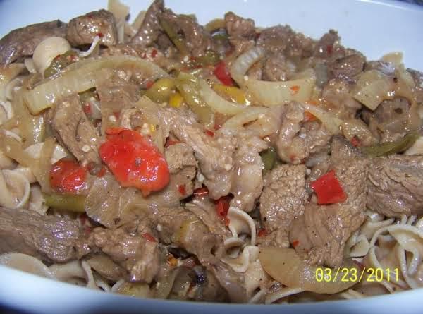 Italian Beef On Noodles