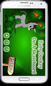Baby Donkey On A Skateboard screenshot 0