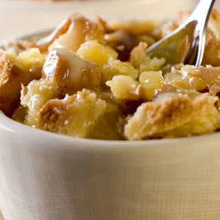 Pineapple Bread Pudding with Pecans.