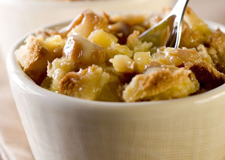Pineapple Bread Pudding with Pecans Recipe