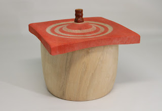 "Photo: Jeff Tate 6"" x 6"" Beads of Courage box [sycamore]"