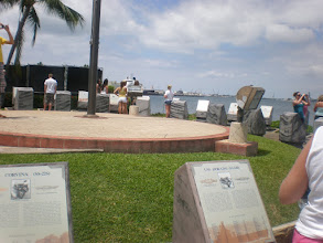 Photo: view of all the submarine plaques - one for each one sunk during WWII