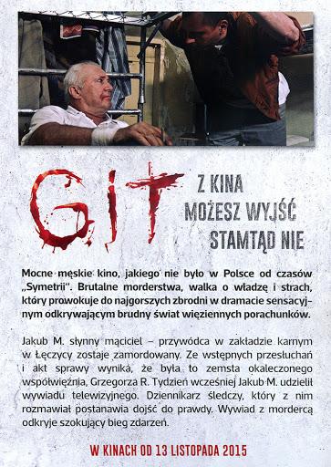 Tył ulotki filmu 'Git'