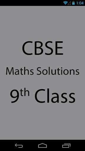 CBSE Maths Solutions 9th Class
