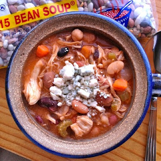 Slow Cooker Buffalo Chicken 15 BEAN SOUP
