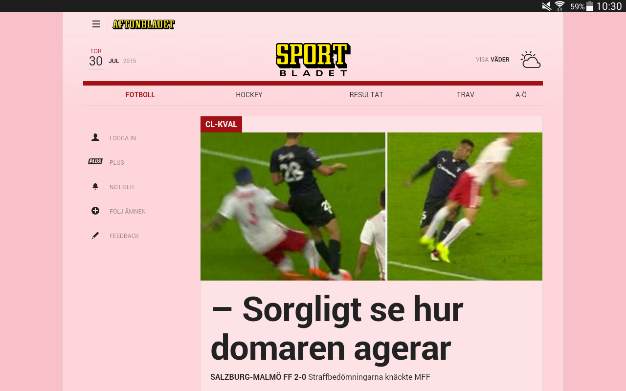 Aftonbladet- screenshot
