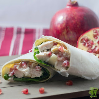 Turkey Salad with Pomegranate and Apple.