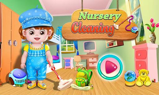 兒童幼兒園清洗遊戲