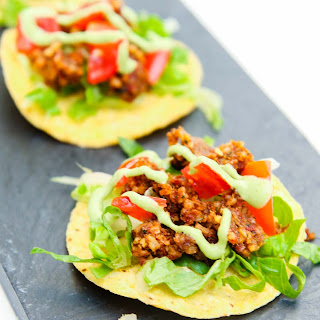 Mini Walnut Sun-Dried Tomato Crumble Tostadas.