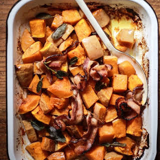 Roasted Butternut Squash With Brown Sugar Bacon + Some Leftover Ideas.