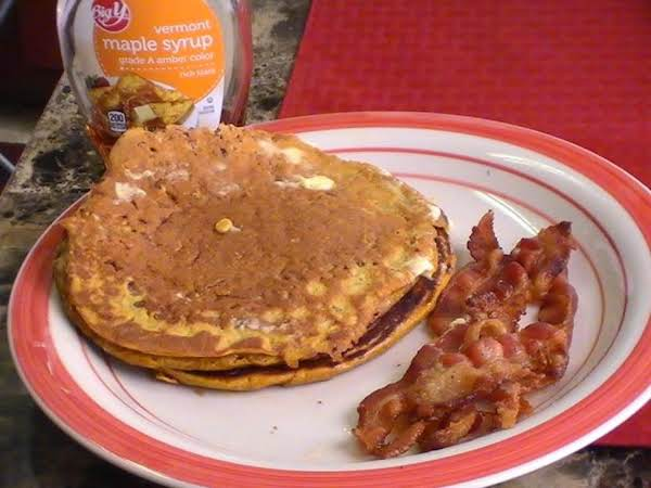 New England Style Pumpkin -pecan Pancakes Recipe