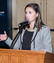 Photo: Co-Arrangements Chair Madison Chambers, WA D '15, speaks to attendees.