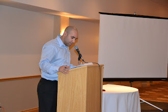 Photo: Secretary Georges Maamari introduced the guest of the evening