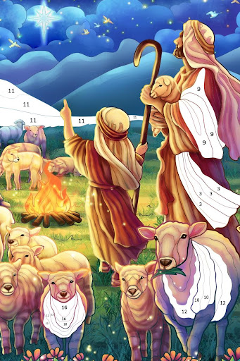 Bible Coloring - Paint by Number, Free Bible Games 2.5.2 screenshots 20